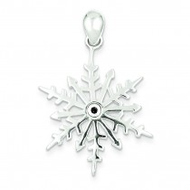 Snowflake Crystal Pendant in Sterling Silver