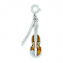 Violin Charm in Sterling Silver