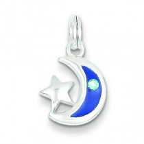 Star Moon Charm in Sterling Silver