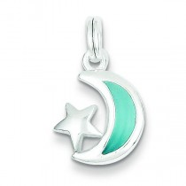 Blue Moon Star Charm in Sterling Silver