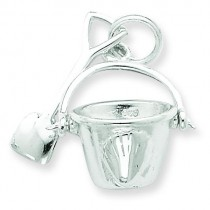 Shovel Pail Charm in Sterling Silver