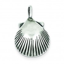 Antiqued Sea Shell Pendant in Sterling Silver