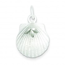 Finish Diamond Cut Shell in Sterling Silver