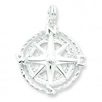 Compass Charm in Sterling Silver