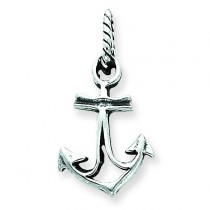 Antiqued Anchor Pendant in Sterling Silver