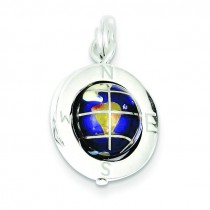 Globe Charm in Sterling Silver