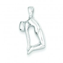 Gymnast Pendant in Sterling Silver