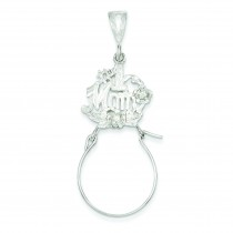 Mom Charm Holder in Sterling Silver