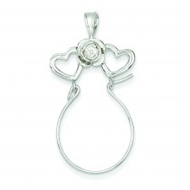 Heart Charm Holder in Sterling Silver