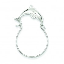 Dolphin Charm Holder in Sterling Silver