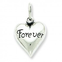 Antiqued Forever Pendant in Sterling Silver