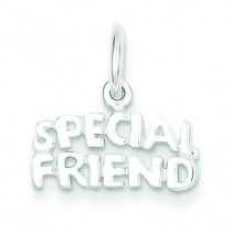 Special Friend Charm in Sterling Silver