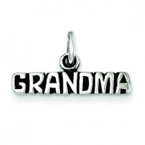 Antiqued Grandma Charm in Sterling Silver