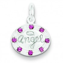 Swarovski Crystal Angel Pendant in Sterling Silver