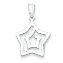 Solid Pendant in Sterling Silver
