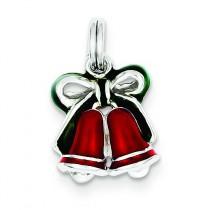 Enamel Bells Charm in Sterling Silver