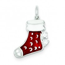 Stocking Charm in Sterling Silver