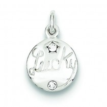 Swarovski Crystal Lucky Charm in Sterling Silver