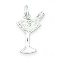 CZ Martini Pendant in Sterling Silver