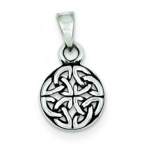 Antiqued Pendant in Sterling Silver