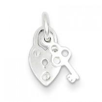 Lock Charm in Sterling Silver