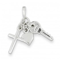 Enameled Charm in Sterling Silver