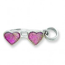 Pink Sunglasses Charm in Sterling Silver