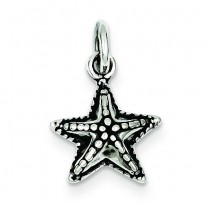 Antique Starfish Charm in Sterling Silver