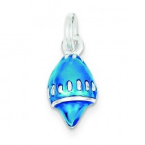 Blue Shell Charm in Sterling Silver