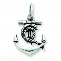 Antiqued Anchor Charm in Sterling Silver