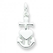 Hope Faith Charity Charm in Sterling Silver