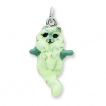 Cat Hanging Charm in Sterling Silver