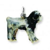 Old English Sheepdog Charm in Sterling Silver