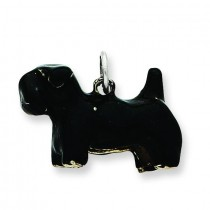 Large Scottish Terrier Charm in Sterling Silver