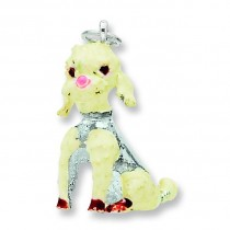 Large Poodle Charm in Sterling Silver