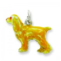 Small Cocker Spaniel Charm in Sterling Silver
