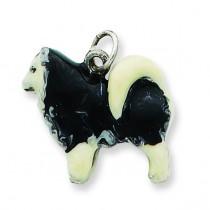 Husky Dog Charm in Sterling Silver