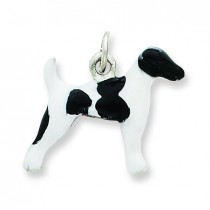 Smooth Hair Fox Terrier Charm in Sterling Silver