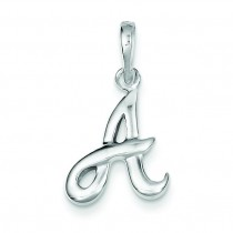 Initial A Pendant in Sterling Silver