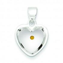 Mustard Seed Heart Pendant in Sterling Silver