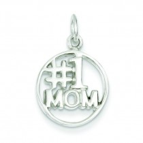Mom Pendant in Sterling Silver
