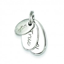 Wish True Love Charm in Sterling Silver