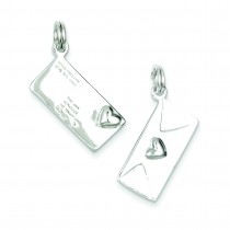 Letter Envelope Charm in Sterling Silver