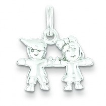 Boy Girl Charm in Sterling Silver