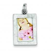 Picture Frame Charm in Sterling Silver
