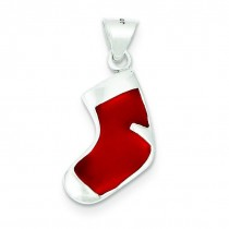 Christmas Stocking Charm in Sterling Silver
