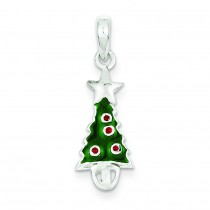 Christmas Tree Star Pendant in Sterling Silver