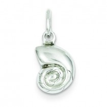 Puffed Shell Charm in Sterling Silver