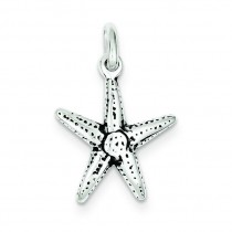 Antiqued Starfish Charm in Sterling Silver