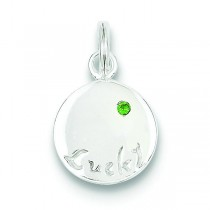 Emerald Stone Lucky Charm in Sterling Silver